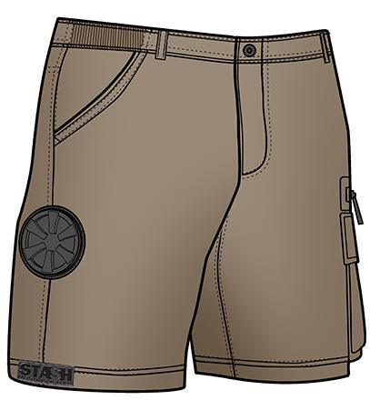 Stash Shorts - Khaki Color