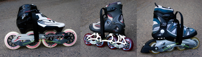 The Flex Brake installs on almost any inline skate with 4 or 5 wheels