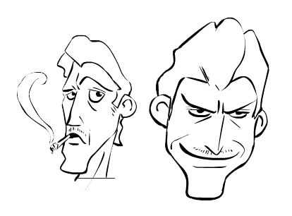 Facial Art Style Concept Sketches