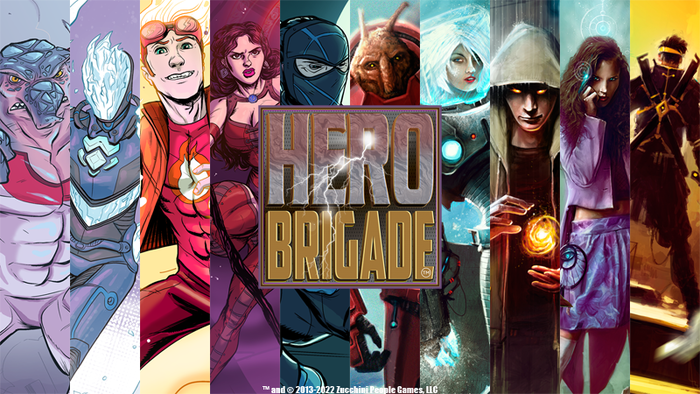 Base and promotional art for the Heroes of Hero Brigade. Both will be included in the game at $35k!