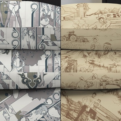 $35 naughty-but-arty pillow cases from Vice Merchants in Deco Dems (left) or Cowpokes (right) SOLD OUT