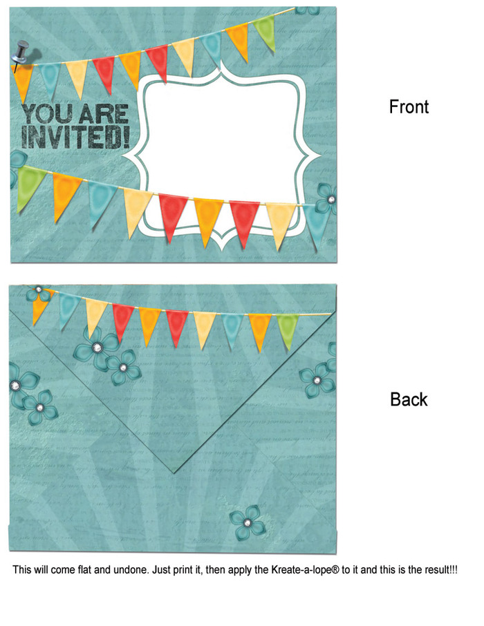 Another sample of the printable envelopes pack