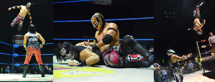 Hijo De Rey Misterio vs. Bestia 666 (photos courtesy of Josh Garcia)