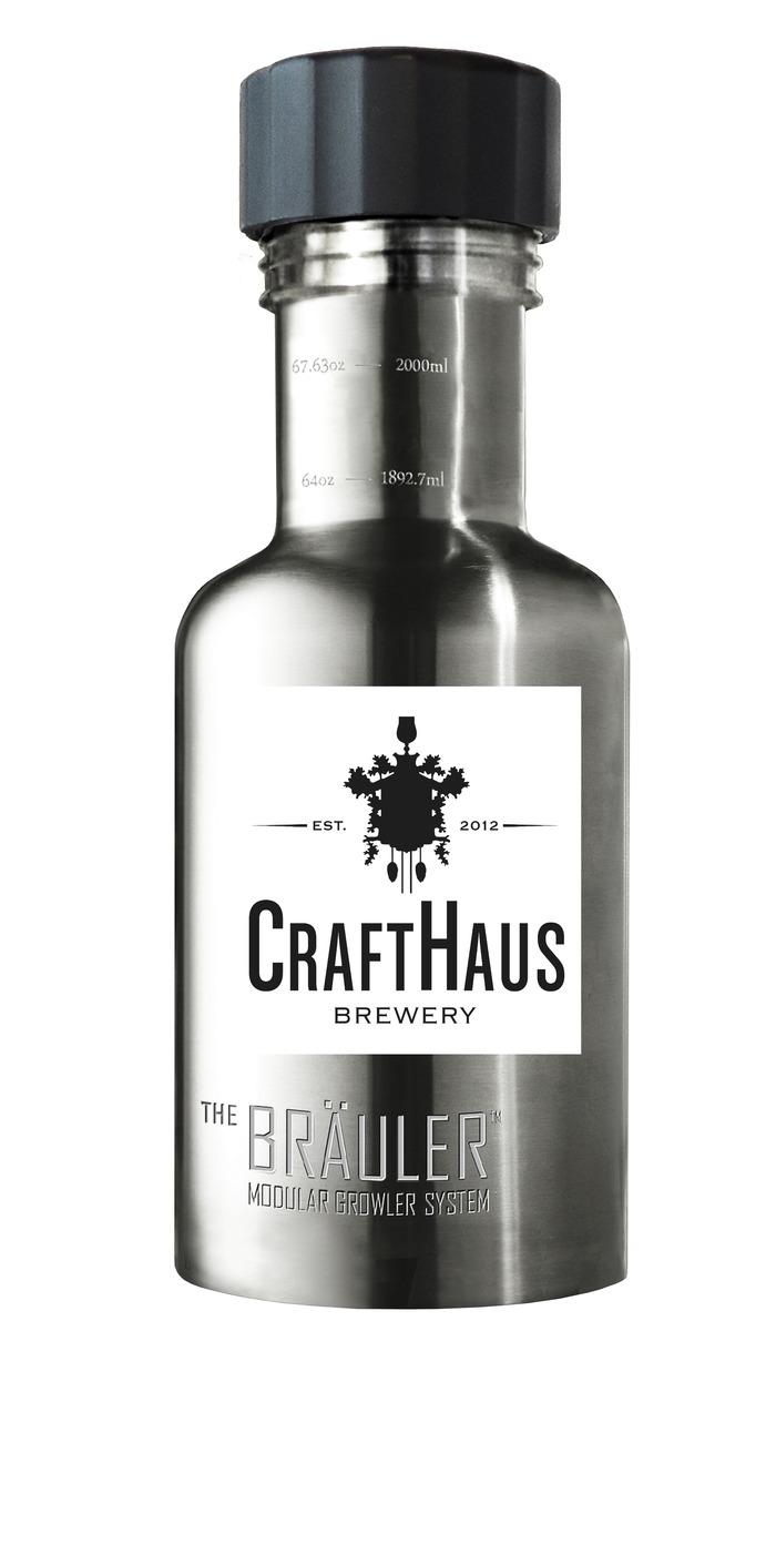 The Bräuler. 64 oz stainless steel growler for Propagation Members