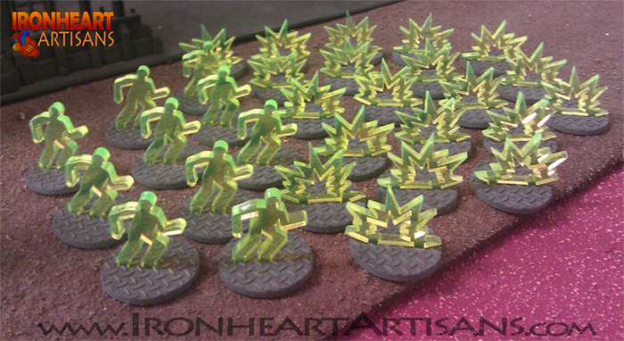 3D Tokens with primered grey bases
