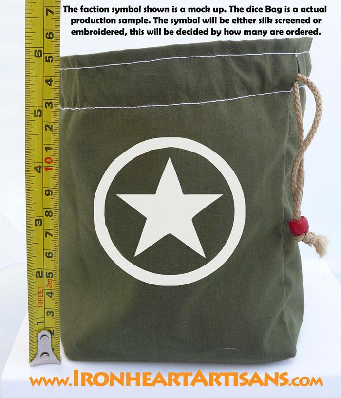 Mock up Symbol Dice Bag