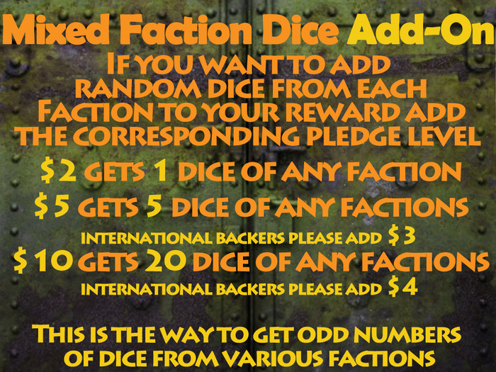Mixed Faction dice Sets