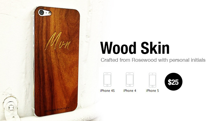 Engraved iPhone skin