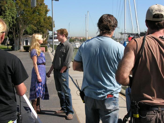 Katheryn Winnick, Jonathan Scarfe and crew.