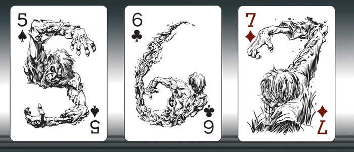 The Ultimate Zombie Playing Card Deck Project