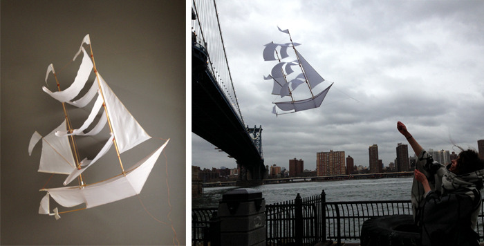 Custom Sailing Ship Kite ($75)