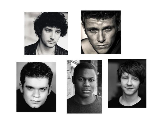 Clockwise from top left: Jack Gordon, Charlie Bewley, Mike Noble, Obi Abili and Jack Doolan