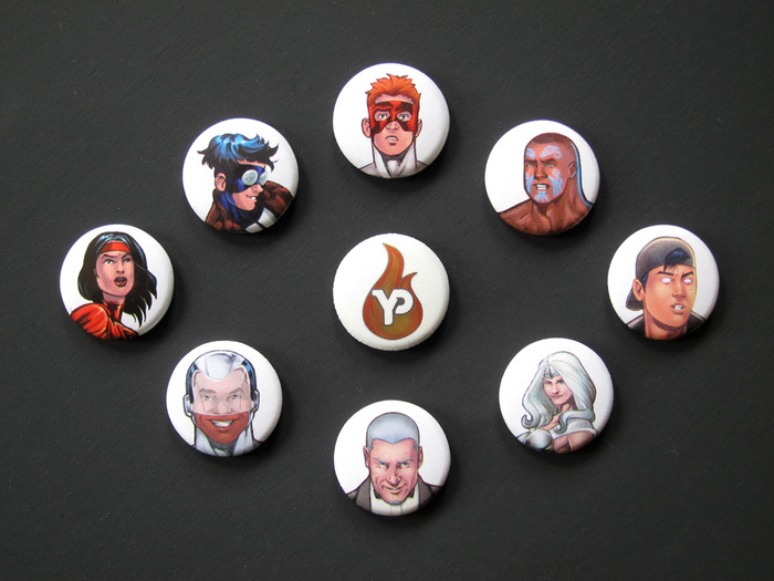 The Young Protectors One-Inch Buttons