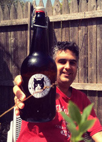 Kefir Brewmaster Paul David with a bottle of pop!