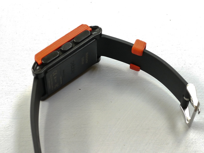 Rear view of Watch Band Loop with slot for easy installation and removal