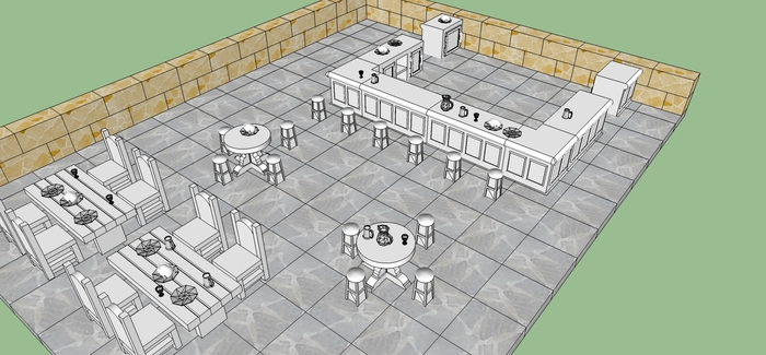 An example of what is possible with the Tavern Set and the dungeon tiles.