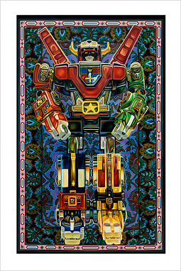 """Defensor Mundi (Voltron)"" 24""x36"" limited edition giclée print"