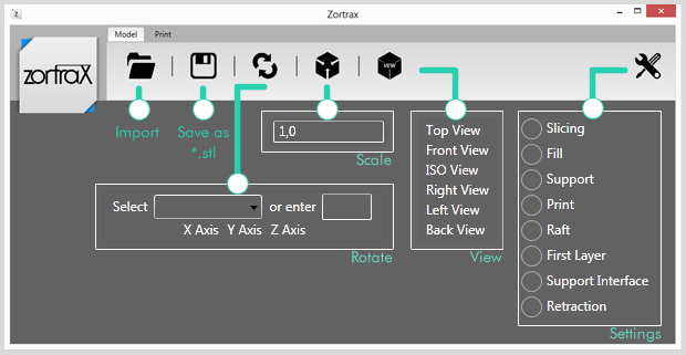 ZSuite - Model Tab
