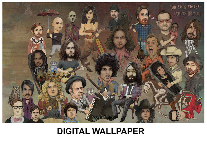 DIGITAL WALLPAPER - THE SPACE ON THE LEFT IS FOR ICONS
