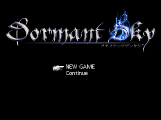 Dormant Sky - Start Screen