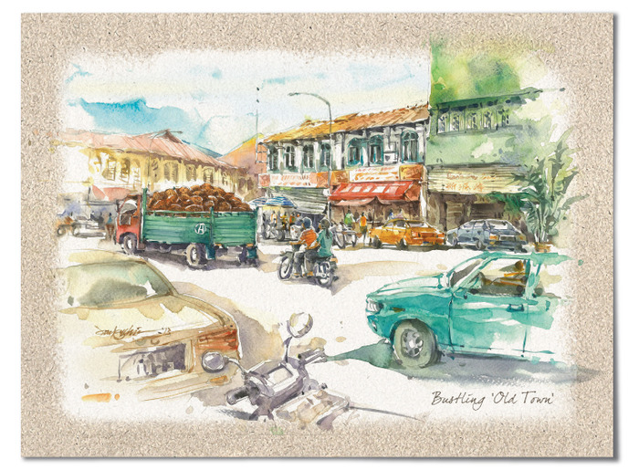 """Bustling Old Town"" – In Malaysia, almost every city and town is an electic mix of old and new."