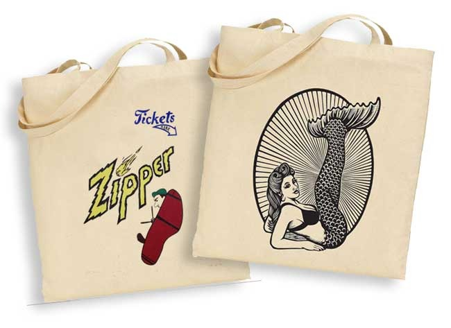 You totes love mermaids. Designs L-R from the movie Zipper, Martin Mazorra.