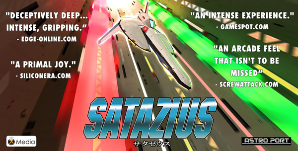 Retro Chic Arcade Shooter SATAZIUS by ASTRO PORT