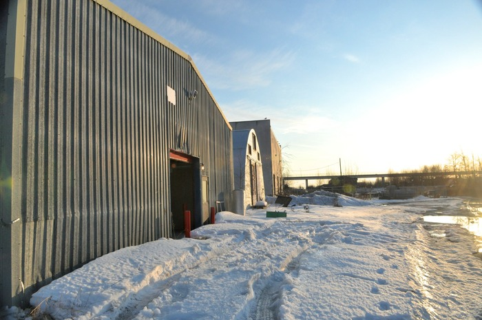 The Anchorage Community Works warehouse.