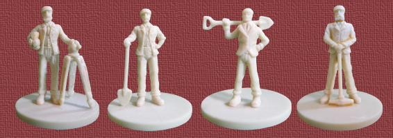 The 2nd Edition includes 20 figures in total - 4 each in 5 player colors