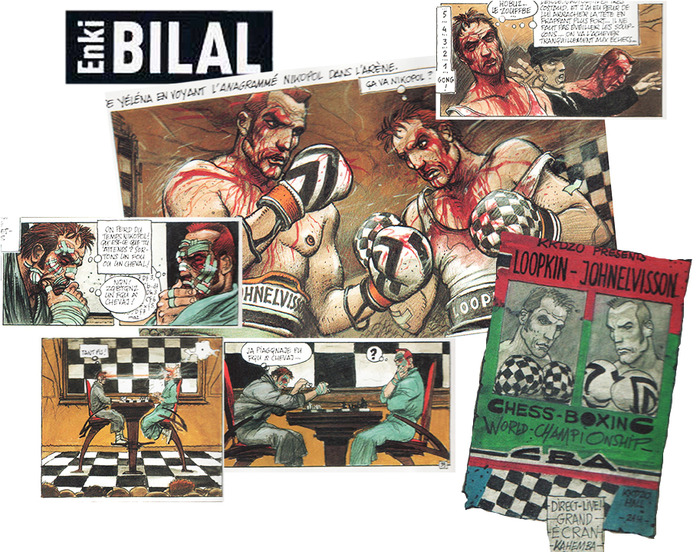 Original Chessboxing images from Enki Bilal's Froid Equateur