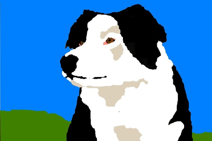 An image Alexis created of our friends' dog Brother.