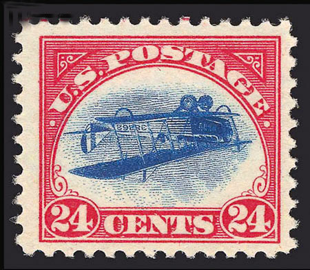 "World famous ""Inverted Jenny"" error"