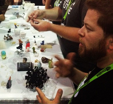 Here I am explaining 3D printing at SIGGRAPH 2012