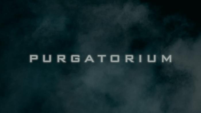 Purgatorium opening credits title design.