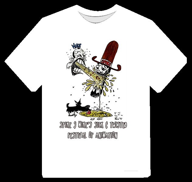 Official Spike & Mike Sick & Twisted Barf Bag Art T-Shirt