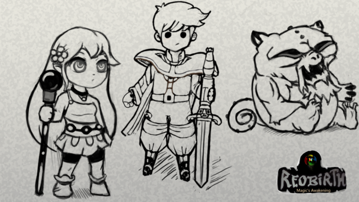A few early character concept sketches!