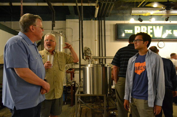 Chris McKim, the owner of The Brew Kettle in Strongsville, invites Lance to The Brew Kettle to brew his very own beer in honor of Lance's Brewery Tour begins! That night The Brew Kettle also made a donation to help Lance's dream.