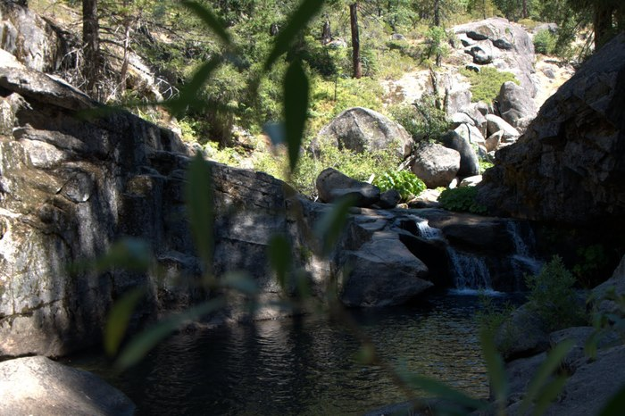 The waterfall/swimming hole