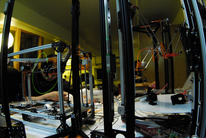 Multiple OpenBeam based 3D Printers at Metrix