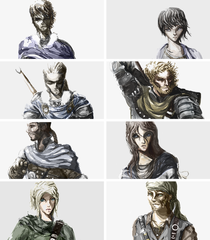 The playable cast