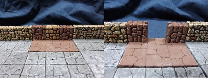 secret passage wall piece with and without a secret passage doorway.