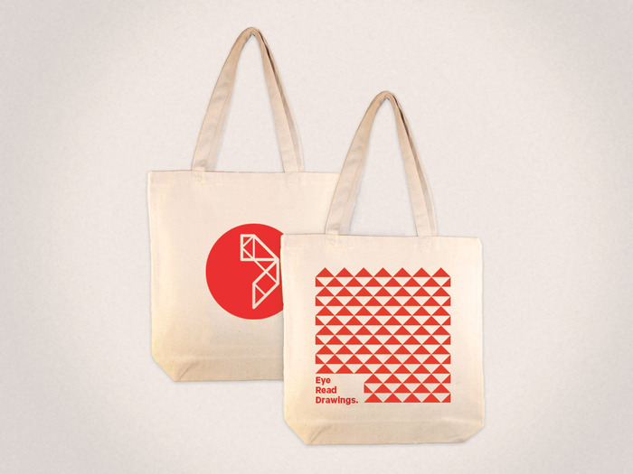 Custom screenprinted Draftery totebags