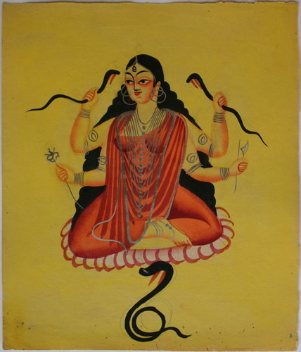 Manasā, a goddess worshipped to cure snakebite