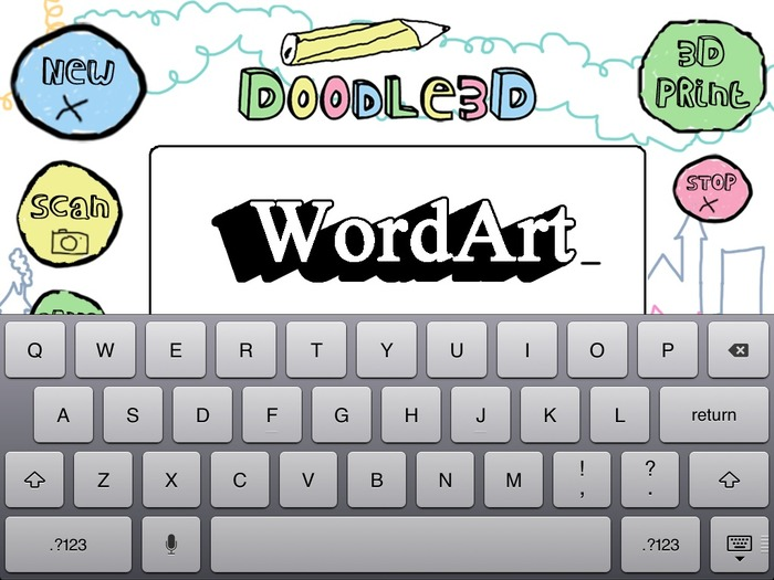stretchgoal 75k (heading towards) - Create WordArt with Doodle3D