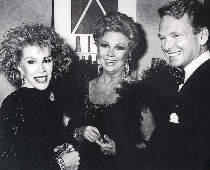 Joan Rivers (left); Mitzi Gaynor (middle); Bob Mackie (right)