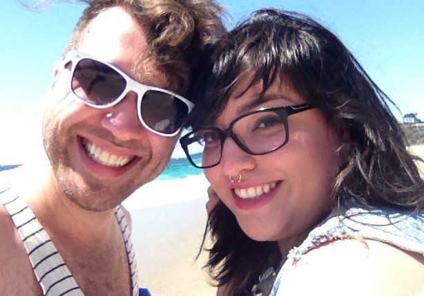 Me with Date Trip editor Jazmin Mendoza, moments before defending our beach snacks from seagulls!