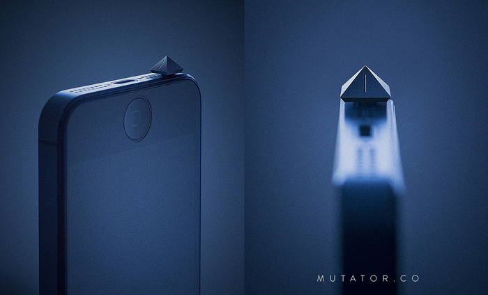 Mutator's sleek, low-profile design keeps your iPhone silent while staying out of the way