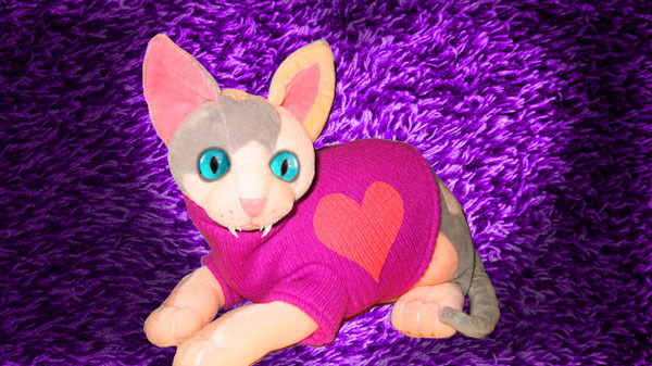 Love Me Cat Plush Doll (mockup)