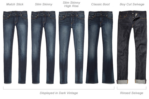 Elegant Types Of Women39s Jeans Types Of Rises Jeans Silhouette Of Different
