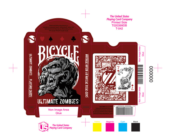 The Ultimate Zombie Playing Cards New Tuck Case